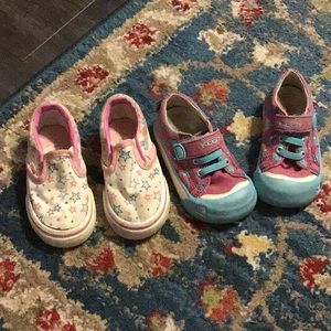 5 toddler keen vans shoes lot